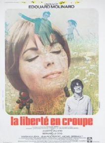 Vintage French Movie poster - La Liberté en croupe (1970)